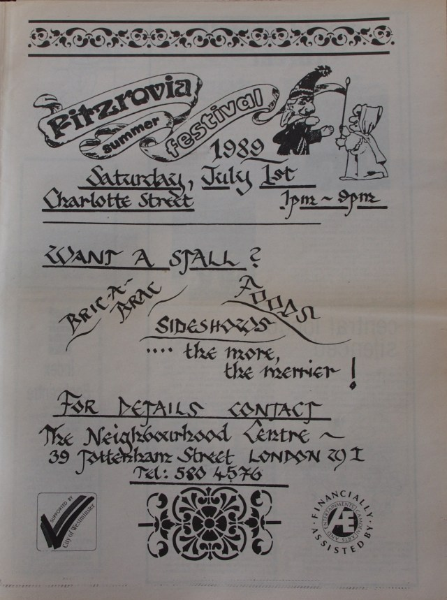 Page 11 Fitzrovia News no 45 June 1989