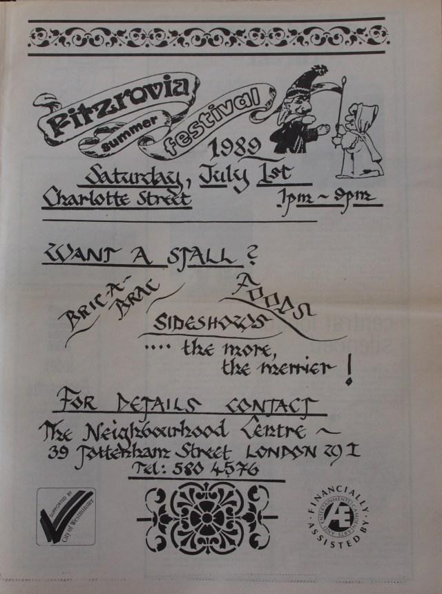 Page 11 Fitzrovia News no 45 June 1989