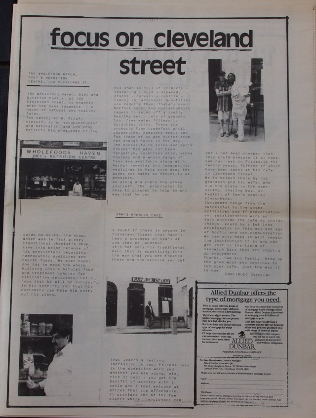 Page 13 Fitzrovia News no 45 June 1989