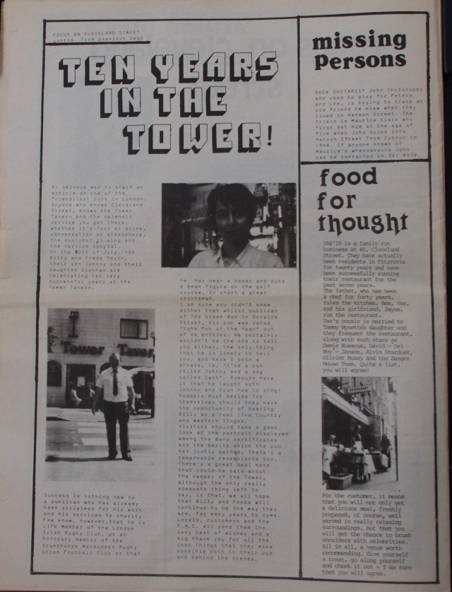 Page 14 Fitzrovia News no 45 June 1989