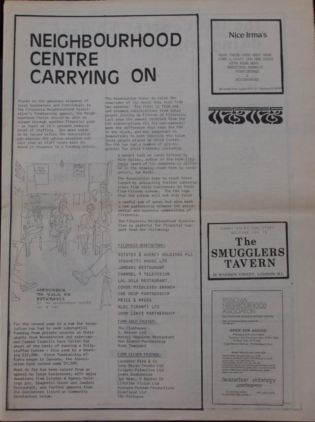 Page 3 Fitzrovia News no 45 June 1989
