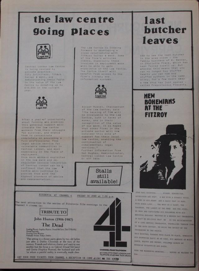Page 4 Fitzrovia News no 45 June 1989