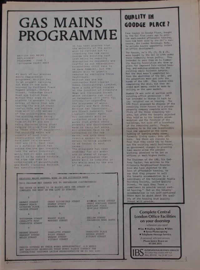 Page 5 Fitzrovia News no 45 June 1989