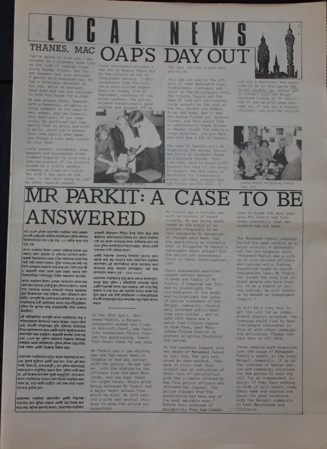 Page 3 Fitzrovia Neighbourhood News no 37 October 1987