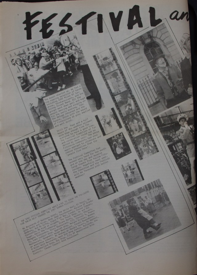 Page 4 Fitzrovia Neighbourhood News no 37 October 1987