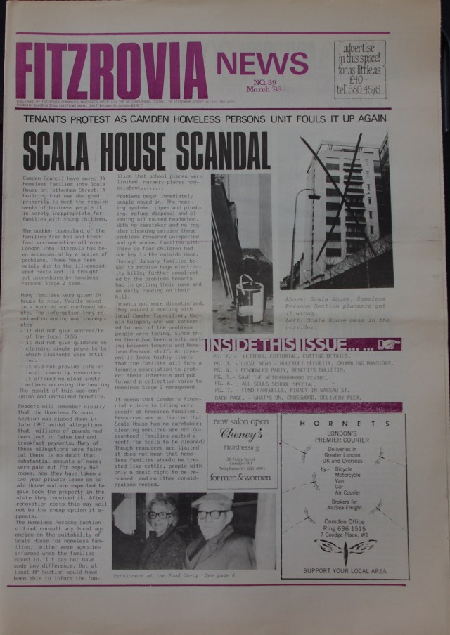 Page Fitzrovia Neighbourhood News no 37 October 1987