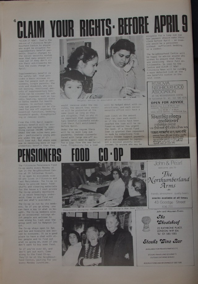 Page 4  Fitzrovia Neighbourhood News no 39  March 1988