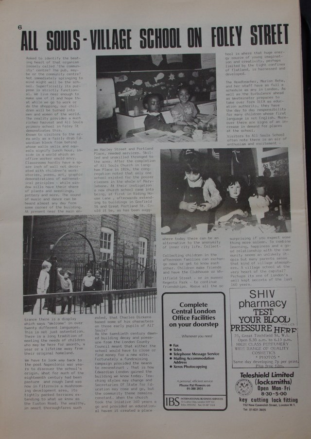 Page 6 Fitzrovia Neighbourhood News no 39  March 1988