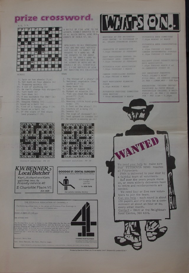 Page 8 Fitzrovia Neighbourhood News no 39  March 1988