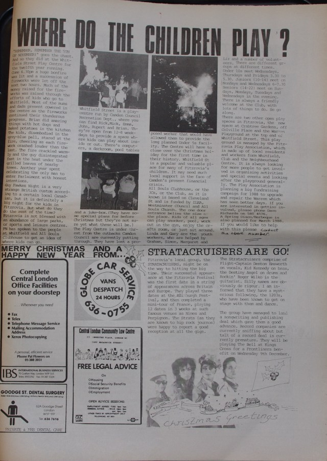 Page 5 Fitzrovia Neighbourhood News no 38 December 1987