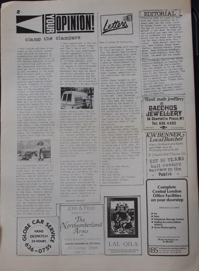 Page 2 Fitzrovia News no 42 September 1988
