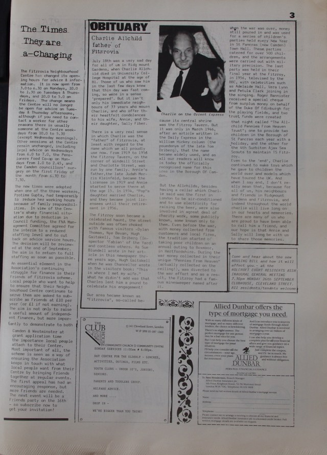 Page 3 Fitzrovia News no 42 September 1988