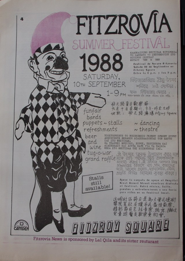 Page 4 Fitzrovia News no 42 September 1988
