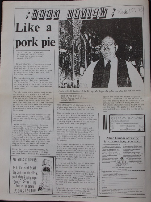 Page 2 Fitzrovia News no 43 December 1988