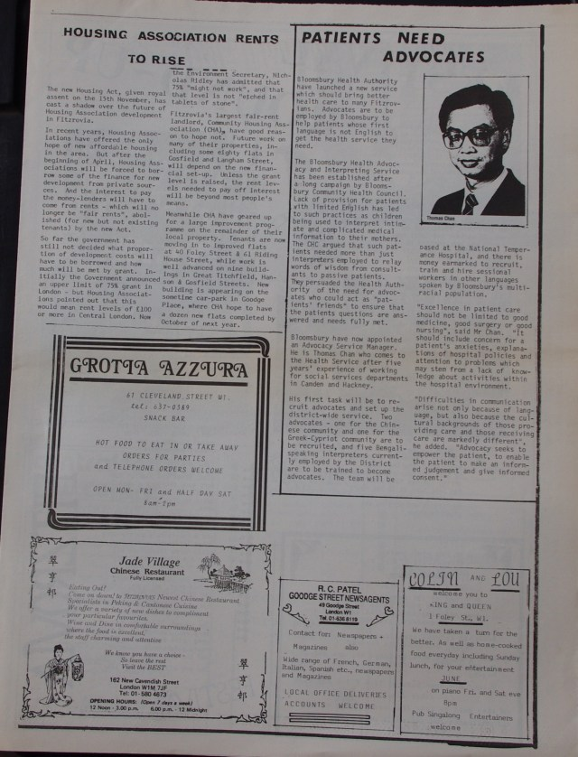 Page 3 Fitzrovia News no 43 December 1988