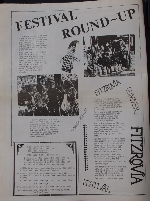Page 4 Fitzrovia News no 43 December 1988