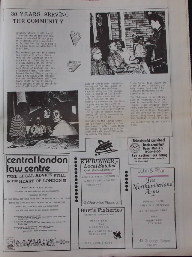 Page 5  Fitzrovia News no 43 December 1988
