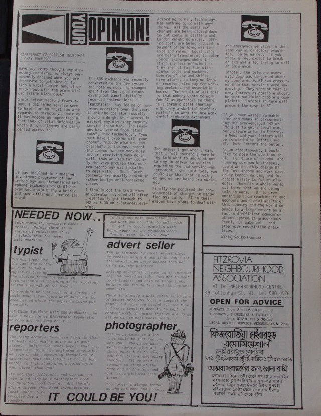 Page 7 Fitzrovia News no 43 December 1988