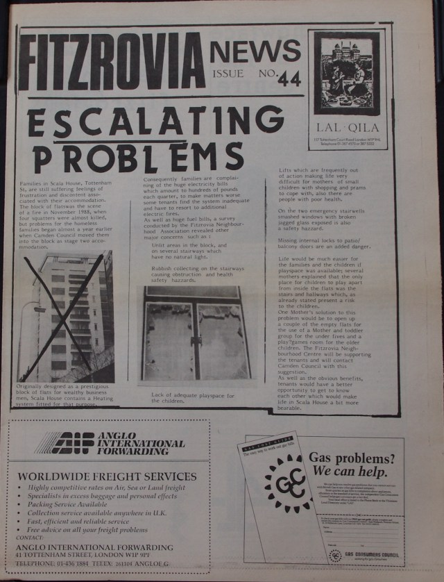 Front Page Fitzrovia News no 44 March 1989