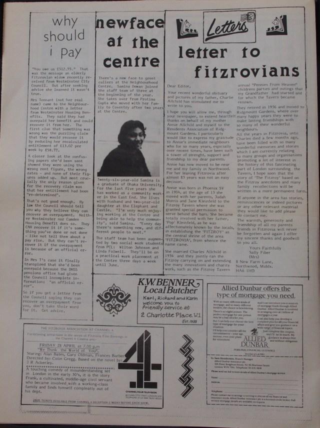 Page 2  Fitzrovia News no 44 March 1989