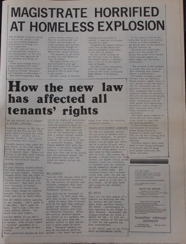Page 5  Fitzrovia News no 44 March 1989