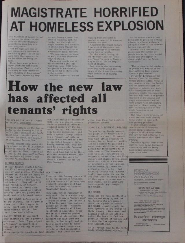 Page 5  Fitzrovia News no 44 March 1989