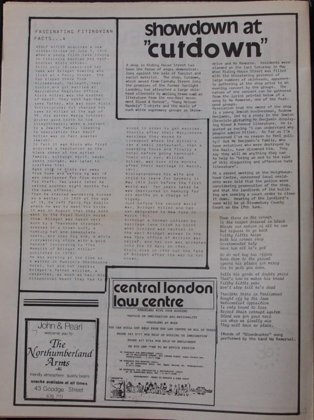 Page 2 Fitzrovia News no 45 June 1989