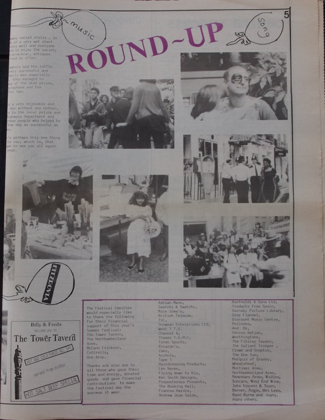 Page 5 Fitzrovia News no 46 August 1989