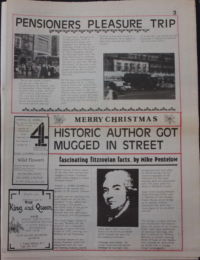 Page 3 Fitzrovia News no 47 December 1989