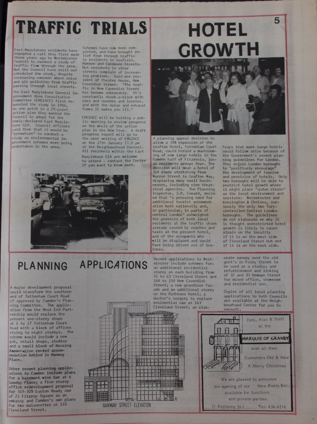 Page 5 Fitzrovia News no 47 December 1989
