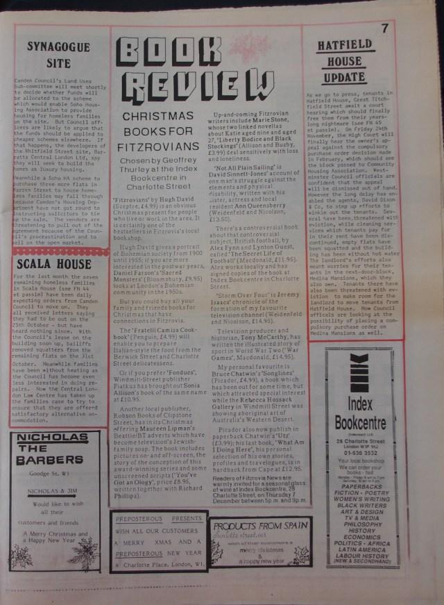Page 7 Fitzrovia News no 47 December 1989
