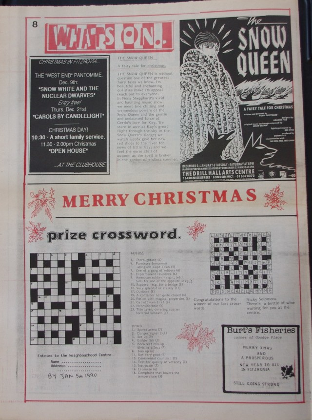 Page 8 Fitzrovia News no 47 December 1989