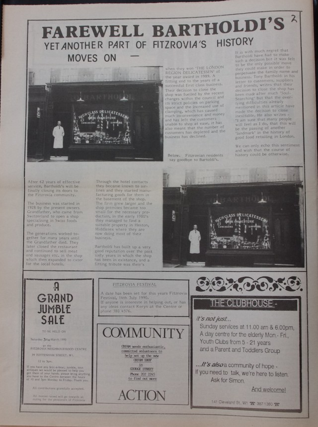 Page 2 Fitzrovia News no 48 February 1990