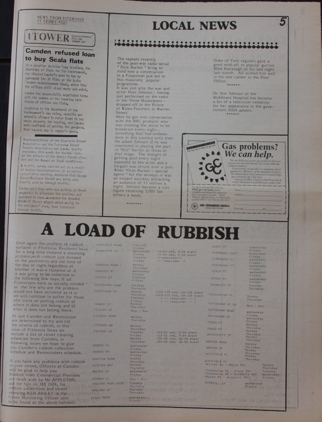 Page 5 Fitzrovia News no 48 February 1990