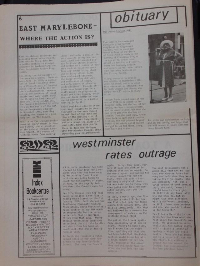 Page 6 Fitzrovia News no 48 February 1990