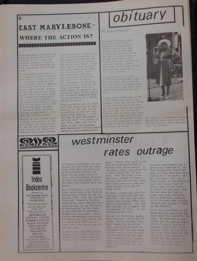 Page 6 Fitzrovia News no 48 February 1990