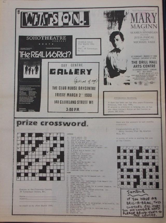 Page 8 Fitzrovia News no 48 February 1990