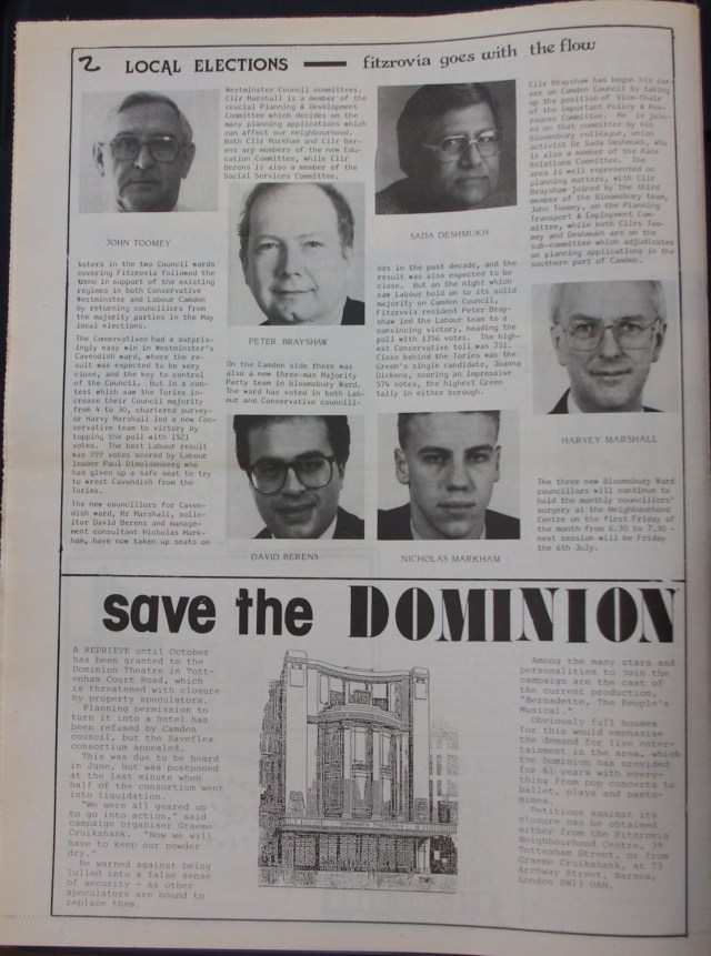 Page 2 Fitzrovia News no 49 July 1990