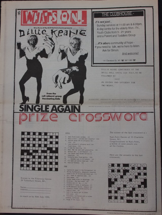 Page 8 Fitzrovia News no 49 July 1990