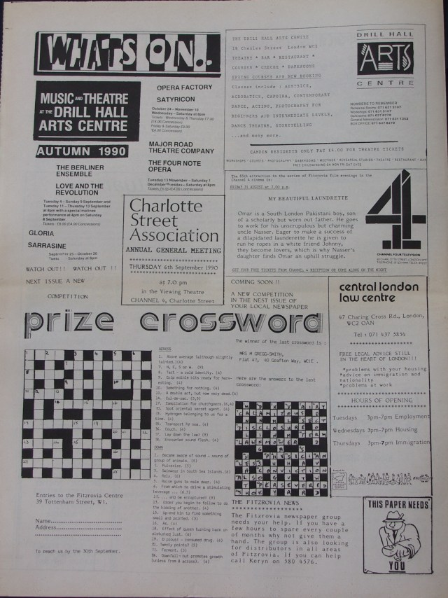 Page 8 Fitzrovia News no 50 August 1990