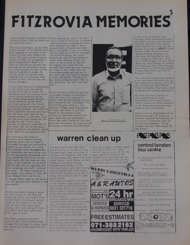 Page 3 Fitzrovia News no 51 December 1990