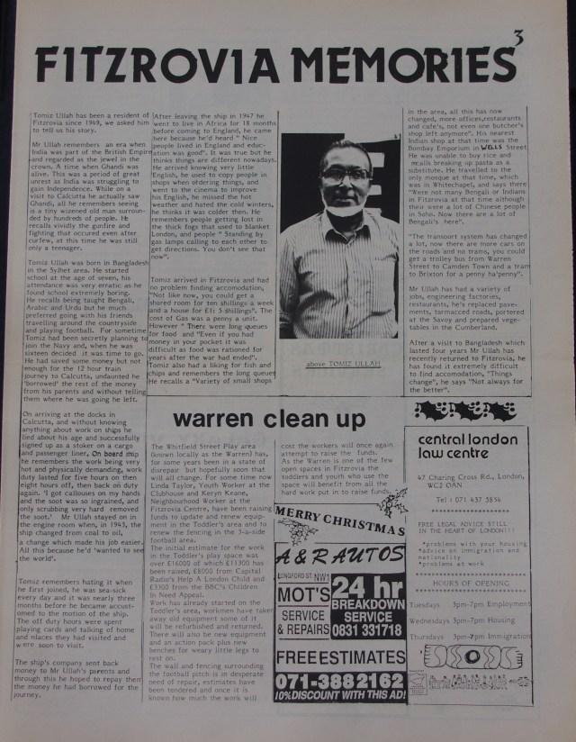 Page 3 Fitzrovia News no 51 December 1990