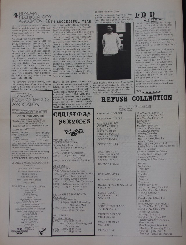 Page 4 Fitzrovia News no 51 December 1990