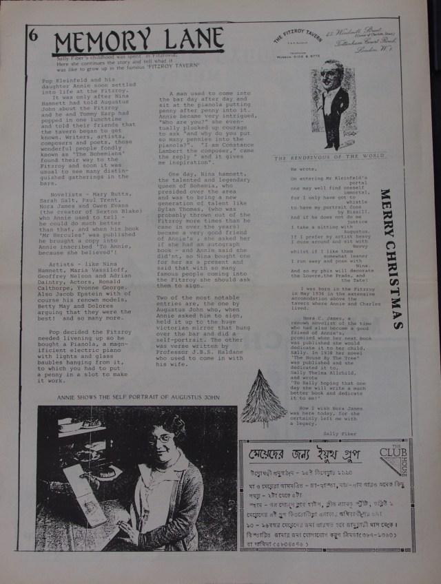 Page 6 Fitzrovia News no 51 December 1990