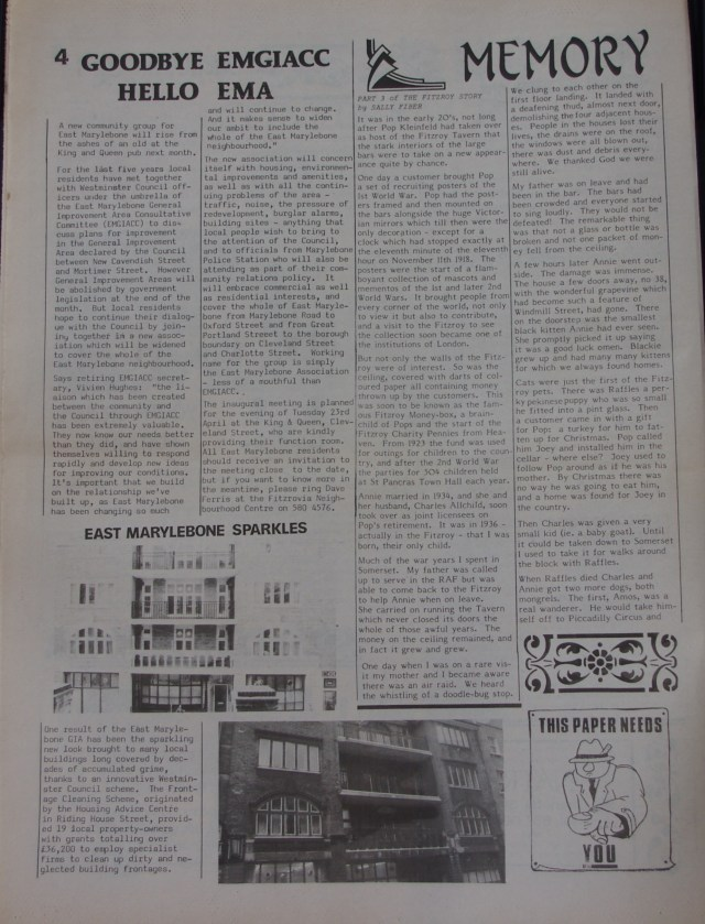 Page 4 Fitzrovia News no 52 March 1991