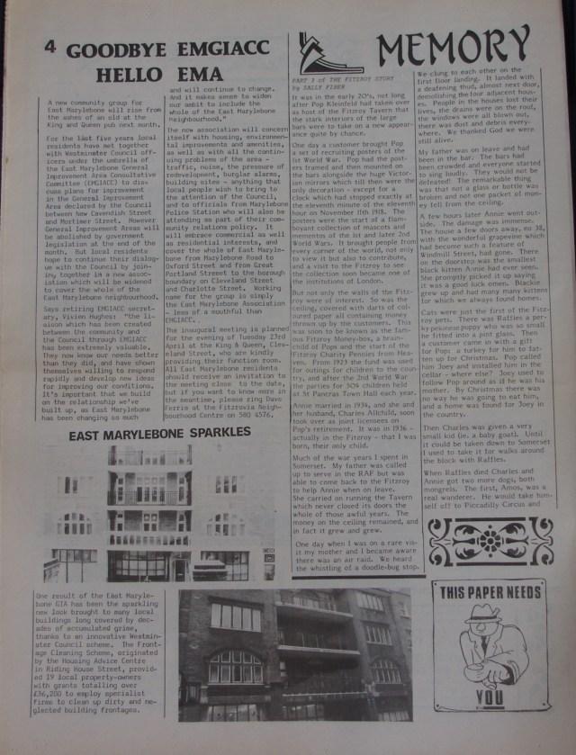 Page 4 Fitzrovia News no 52 March 1991