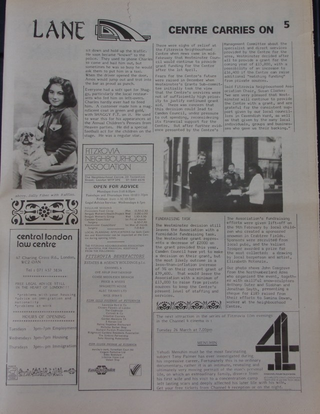 Page 5 Fitzrovia News no 52 March 1991