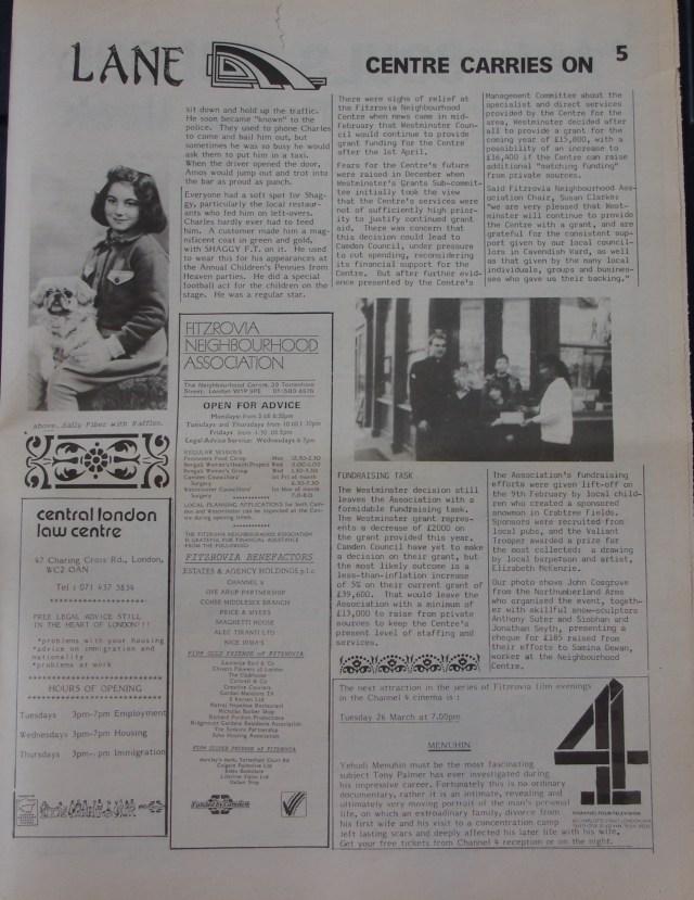 Page 5 Fitzrovia News no 52 March 1991