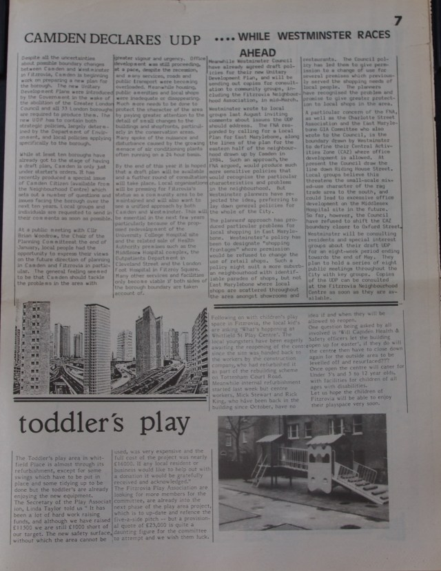 Page 7 Fitzrovia News no 52 March 1991