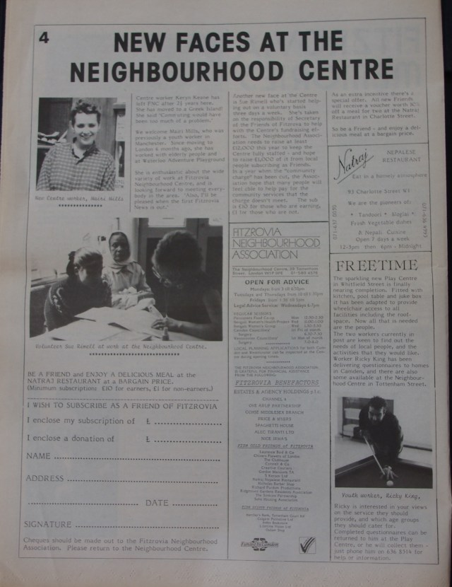 Page 4 Fitzrovia News no 53 June 1991
